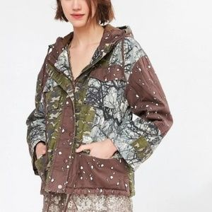 URBAN OUTFITTERS CAMO PATCH JACKET
